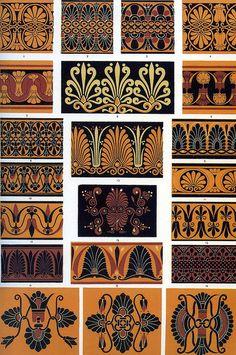 Греция. Оуэн Джонс 'греческий орнамент' 1856 по дизайну украшения ремесла _ Owen Jones 'Greek ornament' 1856 by Design Decoration Craft