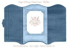Wings of Whimsy: Vintage Cabinet Card Paper Frame - free printables #vintage #ephemera