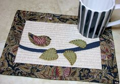 Quilted Mug Rugs  Coasters  Candle Mats  Table by DollPatchworks, $22.00