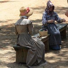 Costumed interpreters at Old Sturbridge Village, Sturbridge, Massachusetts.