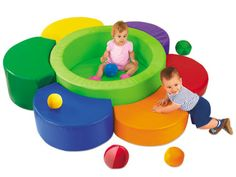 Perfect for little ones who are learning to crawl and climb, Lakeshore's Climb-Around Play Center lets toddlers test their skills…in an incredibly soft & safe environment!