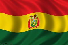 Bolivian Flag  RED: represents blood lost during the battles for independence.  YELLOW: represents the country's great mineral richness.  GREEN: represents its territory and lush vegetation.