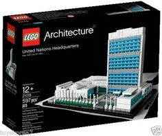 LEGO Architecture 21018 peace UN United Nations Headquarters NEW Factory Sealed $159.99
