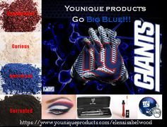 Younique Pigment eye shadows - Are You Ready for some #Football Eye …#NY #giants  www.youniqueproducts.com/wendyskorupski