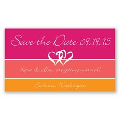 Stripes Magnet - Apple - Save the Date | Invitations By David's Bridal