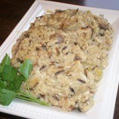 "Wild Rice Casserole | ""I really enjoyed this dish. Made it for a family get together to go with grilled pork chops and corn on the cob. I ate a whole plate of this rather than a chop! Thanks for the recipe!"""