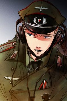 Hetalia ~~ Germany still doesn't have a cell phone, does he?- the art is beautiful