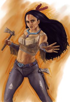 Next up in my Disney Fighter series is Pocahontas. In her new back story Pocahontas is an environmental activist and the descendant of a great Powhatan . Pocahontas Disney, Walt Disney, Princess Pocahontas, Disney Love, Disney Magic, Disney Princesses, Twisted Princesses, Disney Stuff, Disney Girls