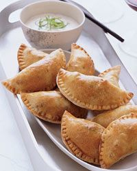 Meat Pies with Spicy Buttermilk Dip...these sound so delicious!