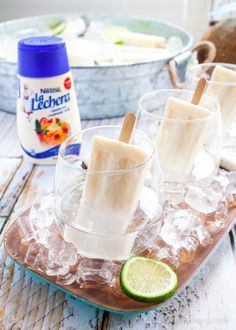 Summer Coquito   Rum and Coconut Popsicle Cocktail - TheNoshery.com