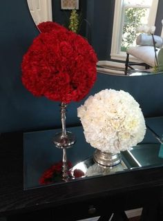 Carnations Globe & Heart