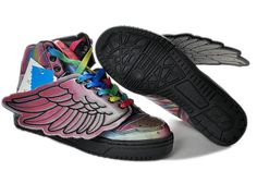 competitive price 3f710 bccf7 Jeremy Scott Wings Colorful Shoes shoe at the ankle and that a connection  between the simplicity or complexity, or T-shaped strap, cleverly  longitudinally ...