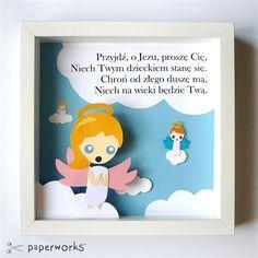 Prezent od Matki Chrzestnej dla małej Marianny z okazji Chrztu Świętego.    Styl: Bajkowy
