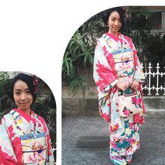 「昨日1号がお着物着ました 一足早い #桜コーデ です! #着物 #kimono #きもの #キモノ #アンティーク着物 #帯 #帯留 #半衿 #Japanesefashion #JAPAN #outfit #1号コーデ」