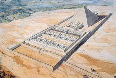 Pyramid and Memorial Temple (Labyrinth) of Nesi (Pharaoh) Amenemhat III, 12th Dynasty, Middle Kingdom, Hawara - jeanclaudegolvin.comjeanclaudegolvin.com