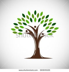 beautiful green oak tree silhouette on brown background infographic modern vector sign premium. Black Bedroom Furniture Sets. Home Design Ideas