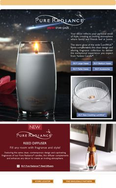 Pure Radiance™ | Contemporary Candles & Reed Diffusers - Yankee Candle