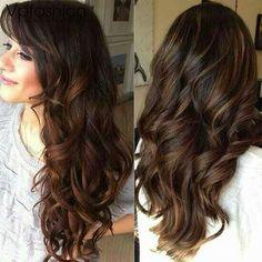 Highlights For long dark,hair.