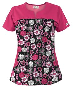 UA will donate a portion of sales from select pink ribbon scrubs to the National Breast Cancer Foundation with the mission to promote cancer awareness and help fund research. Scrubs Pattern, Cute Scrubs, Scrubs Outfit, Black Scrubs, Pink Power, Medical Scrubs, Nursing Clothes, Scrub Tops, Work Fashion