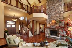 2 Story Fireplace Design Environmental Stoneworks Bucks County, Elk Horn, and North Peak stones.
