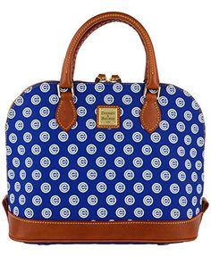 Dooney   Bourke Womens Chicago Cubs Zip Satchel Handbag RoyalBlue Red  Chicago Cubs 683119dab7abf