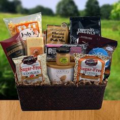 Gift baskets for diabetics buy sugar free gift basket for diabetic manly munchies sugar free negle Image collections