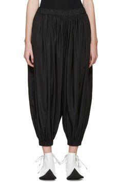 Comme des Garçons - Black Taffeta Sarouel Trousers