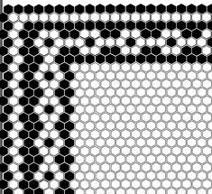Mosaic Tile Designs, Mosaic Patterns, Mosaic Tiles, Black And White Bathroom Floor, Tile Edge, Tile Manufacturers, Hexagon Tiles, Vintage Tile, Basement Bathroom