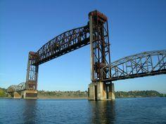 Willamete river railroad bridge [1906 - Portland, Oregon, USA]