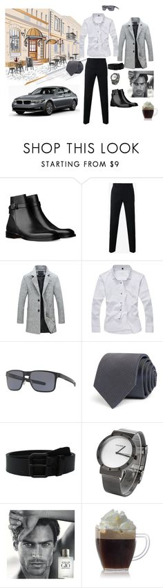 """Весна 2017"" by babayka-lesovichek ❤ liked on Polyvore featuring BMW, Dolce&Gabbana, Oakley, BOSS Hugo Boss, Vans, Giorgio Armani, men's fashion and menswear"