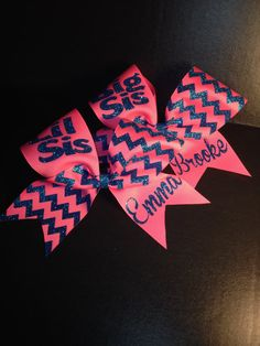 Big Sis Lil Sis Cheer Bow Set by BowMamaCheerBows on Etsy. Cute and inexpensive cheer bows