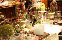 spring party tablescapes | Set your table right with rosy buds, feminine china, sparkling glass ...