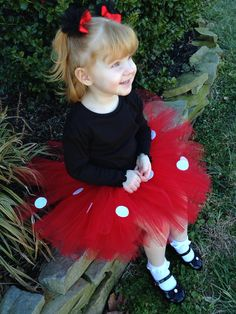 Minnie Mouse TuTu with Tulle Puff Ears. Baby/Toddler/Girls/Dress up on Etsy, $21.95