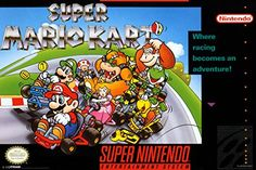 Super Mario Kart Super Nintendo NES Game Series Box Art Yoshi Luigi Princess Peach Poster - 12x18 @ niftywarehouse.com #NiftyWarehouse #Mario #SuperMario #Nintendo #VideoGames #Gaming #MarioBrothers