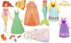 Recortables de dibujos Disney | Ariel, la sirenita