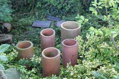 Vintage Terracotta Clay Drain Pipe Planters Open-end Flower Pots in Antiques, Architectural Antiques, Garden | eBay