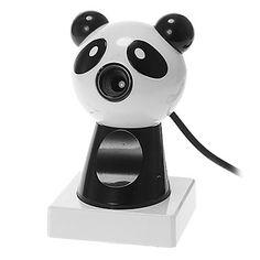 Panda em forma de desktop 8 Megapixel Webcam com microfone – BRL R$ 41,34
