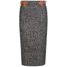 Tom Ford Tweed Pencil Skirt (€1.815) ❤ liked on Polyvore featuring skirts, black, tweed pencil skirt, tweed skirt, tom ford, pencil skirt and tom ford skirt