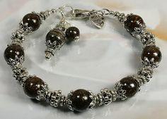 Beautyfull Handmade Bronzite Gemstone Bracelet by nellajuwels, $8.00