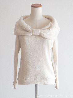 INGNI Shibuya109 Cowl Neck Sweater Dress Ribbon Hime gyaru Lolita Size0  Japan  INGNI  CowlNeck c9fec440a