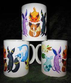 Pokemon Eeveelutions coffee mug by BlebsCornerstore on Etsy, $13.00