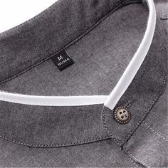collarless shirt on sale at reasonable prices, buy NORMEN 2018 New Men's Banded Collar Casual Shirts Full Sleeve Solid Color Business Shirt Men Slim Fit Collarless Dress Shirt Men from mobile site on Aliexpress Now! Slim Fit Dress Shirts, Fitted Dress Shirts, Formal Shirts, Casual Shirts, Mens Shalwar Kameez, Camisa Slim, Mens Kurta Designs, Mens Designer Shirts, Le Polo