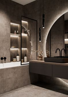 Bathroom Design Luxury, Modern Bathroom Design, Modern House Design, Modern Luxury Bathroom, Home Room Design, Dream Home Design, Home Interior Design, Dream House Interior, Luxury Homes Dream Houses