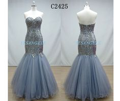 Gray Prom Dresses Long Evening DressesHomecoming by YESANGELE, $186.00