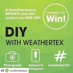 #Repost @weathertexaus (@get_repost) ・・・ ** INSTAGRAM DIY PROMO - WIN $50 ** As we're spending more time at home, more DIY projects are getting done 🧰🔨🔧... and we want to showcase and reward you for using our products.  For all Australian residents, simply follow our Instagram page, upload your Weathertex DIY project, #weathertexDIY and if we repost your photo on our business page, you'll instantly win $50 Visa giftcard.  For more inf, visit our bio link 👆👆. Get creative and you can be…