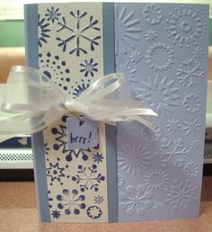 nicely done with the same embossing folder!