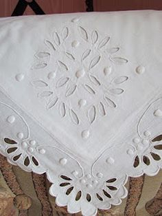 crochet lace made with the thinnest thread