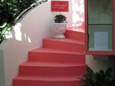 Stairway in a courtyard seen in Palm Beach, Florida