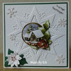 Homemade Cards Examples Photo 88 Best Images Of Christmas Cards . 3d Cards, Cute Cards, Christmas Images, Christmas Tag, Shabby Chic Xmas Cards, Paper Ornaments, Embossed Cards, Marianne Design, Winter Theme
