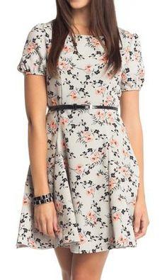 Gray Gardens A-Line Dress